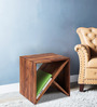 Mosby End Table cum Magazine Rack in Provincial Teak Finish by Woodsworth