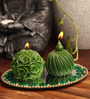 Candles N Beyond Green Candle Set