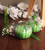 Candles N Beyond Lemon Grass Flower Small Jar Candle