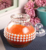 Candles N Beyond Orange Glass Jar Candle