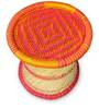 Cane Stool in Pink & Orange Colour by Shinexus