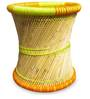 Cane Stool in Yellow Colour by Shinexus