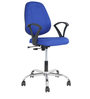 Cannon Medium Back Office Chair in Blue Colour by The Furniture Store