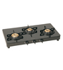 Cantee Series Amaya Stainless Steel & Glass 3 Burner Gas Stove