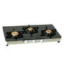 Cantee Series Lorenzo Stainless Steel & Glass 3 Burner Gas Stove