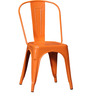 Ekati Metal Chair in Orange Color with Eyelet by Bohemiana