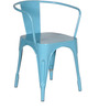 Dotiki Metal Chair in Sky Blue Color by Bohemiana