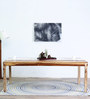 Caracas Six Seater Dining Table in Natural Sheesham Finish by Woodsworth
