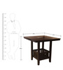 Caren Four Seater Dining Set in Capuccino Finish by HomeTown