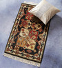 Carpet Overseas Black Wool 36 x 24 Inch Kilim Design Hand Knotted Area Rug