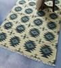 Carpet Overseas Blue Wool 70 x 52 Inch Kilim Design Flatweave Area Rug