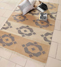 Carpet Overseas Ivory & Brown Cotton 72 x 50 Inch Area Rug