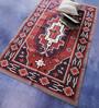 Carpet Overseas Maroon & Rust Cotton 72 x 46 Inch Area Rug
