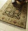Carpet Overseas Olive Wool 96 x 60 Inch Persian Design Hand Knotted Area Rug