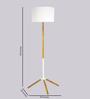 Cartagena Floor Lamp in Off White by CasaCraft