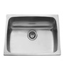 Carysil Elegance Matt Stainless Steel Single Bowl Kitchen Sink - 20x17x8