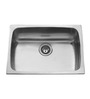 Carysil Elegance Matt Stainless Steel Single Bowl Kitchen Sink - 24x18x9