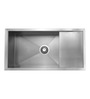 Carysil Quadro Stainless Steel Single Bowl Kitchen Sink with Drainer - 36x18x8