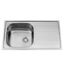 Carysil Vogue Matt Stainless Steel Single Bowl Kitchen Sink with Drainer - 34x20x8