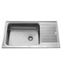 Carysil Vogue Matt Stainless Steel Single Bowl Kitchen Sink with Drainer - 36x18x8