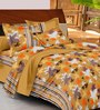 Casa Basic Greens Nature & Florals Cotton Queen Size Bed Sheets - Set of 3