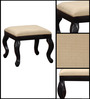 Bourgeois Stool in Espresso Walnut Finish by Amberville