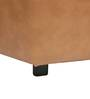 Casa Classico Faux Leatherette Pouffe in Camel Brown Colour by SIWA Style