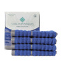Casa Copenhagen Blue Cotton Face Towel - Set of 4