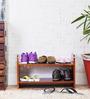 Savannah Basic Shoe Rack In Honey Oak Finish By Woodsworth
