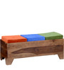 Milton Bench With Storage in Provincial Teak Finish by Woodsworth