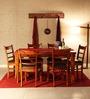 Dallas Six Seater Dining Set In Honey Oak Finish by Woodsworth