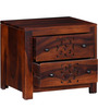 Verona Bed Side Table in Honey Oak Finish by Woodsworth
