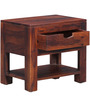 Tulsa Bed Side Table in Honey Oak Finish by Woodsworth
