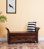 Memphis Bench With Storage in Provincial Teak Finish by Woodsworth