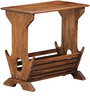 Coloma Magazine Rack Cum End Table in Provincial Teak Finish by Woodsworth
