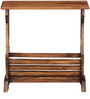 Memphis Magazine Rack Cum End Table in Provincial Teak Finish by Woodsworth