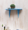 Lima Wall Shelf In Blue by CasaCraft