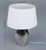Casacraft White Fabric Hammered Fish Table Lamp