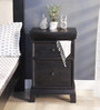 Cashmere Bed Side Table in Espresso Walnut Finish by Woodsworth