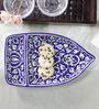 Cdi Stoneware Mughal Art Boat Shape Platter