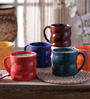 Cdi Twisted Shape Tea Cups With Six Different Colours  - Set of 6