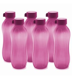 Cello Aqua Kool Pink Polypropylene 1.1 L Bottle - Set of 6