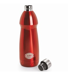 Cello Aviator Stainless Steel Bottle (500 Ml) Red