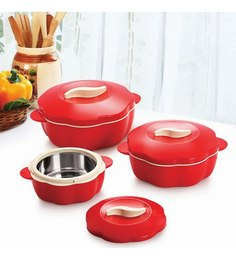 Cello Bloom Casseroles Gift Set - 3 Pcs. Red