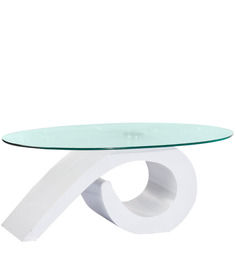 Center Table in White Colour by Parin