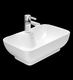 Cera Corba White Ceramic Table Top Wash Basin