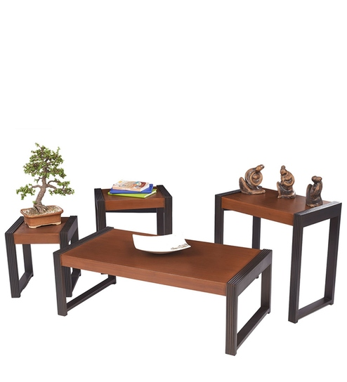 Center Tables with Nest Of Tables Moulding in Walnut Colour By Pepperfry @ Rs.14,598