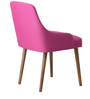 Celano Accent Chair (Set of 2) in Pink Color with Cocoa Legs by CasaCraft