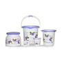 Cello Blossom Plastic Purple Small Bucket Set - Set of 5