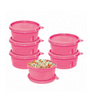 Cello Max Fresh Pink Round 375 ML Containers - Set of 6
